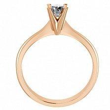 Помолвочное кольцо из красного золота Победа любви с бриллиантом 3,7мм