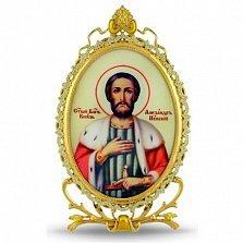 Серебряная икона Святого Благоверного князя Александра Невского