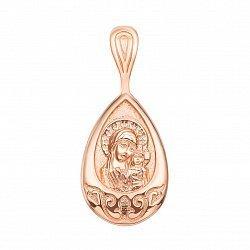 Ладанка из красного золота Богородица 000129696