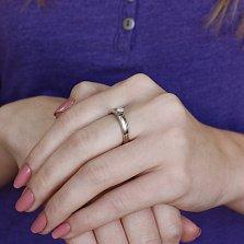Золотое кольцо Мирейя в комбинированном цвете с бриллиантом