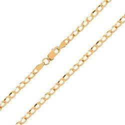 Серебряная цепочка с позолотой 000027437