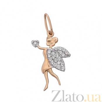 Золотой подвес Влюбленная фея LEL--62337