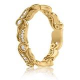 Кольцо из желтого золота с бриллиантами Долина грез: Роса на цветах