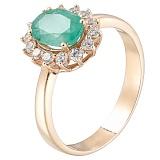 Золотое кольцо Виалин с изумрудом