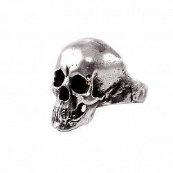 Кольцо из серебра Jamison в форме черепа с чернением 000091360