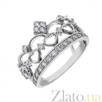 Серебряное кольцо с фианитами Корона AUR--81002б