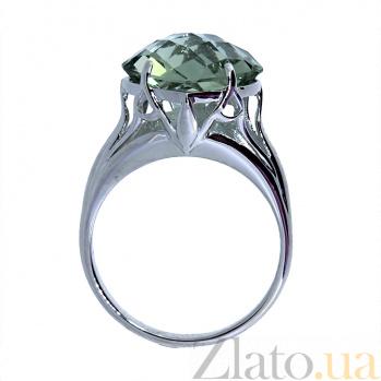 Серебряное кольцо с празиолитом Зореслава ZMX--RPras-5560-Ag_K