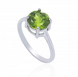 Серебряное кольцо Иванна с хризолитом
