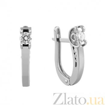 Золотые серьги с бриллиантами Карера ин карера KBL--С2438/бел/брил