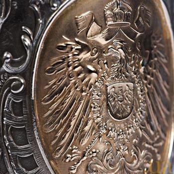 Серебряный кубок с позолотой Царская охота 554