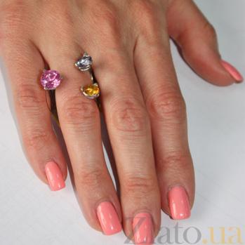 Серебряное кольцо с корундом Сезам 8ГГ-КрКзКц