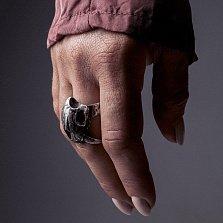 Кольцо из серебра Smilodon с чернением