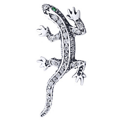 Серебряный кулон с зелеными и белыми фианитами 000003658