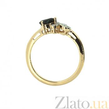 Золотое кольцо с бриллиантами и сапфиром Лиза ZMX--RDS-5569_K