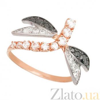 Золотое кольцо Стрекоза с цирконием VLT--Е1439-3