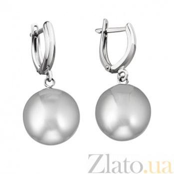 Серебряные серьги Матовый шар, диаметр 10мм LEL--86018 м
