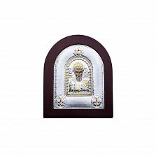 Икона Николая Чудотворца серебряная в позолоте