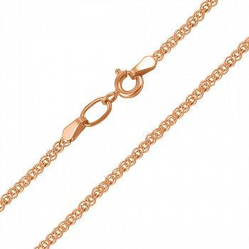 Ланцюжок із червоного золота в плетінні нонна з алмазною гранню 000000362
