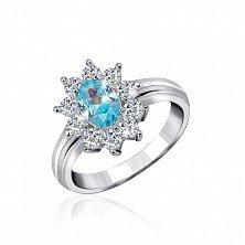 Серебряное кольцо с фианитами Филлис