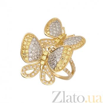 Кольцо из золота Беззаботность с фианитами VLT--ТТТ1229