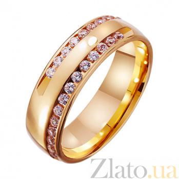 Золотое обручальное кольцо с фианитами Сияние моей любви TRF--412776