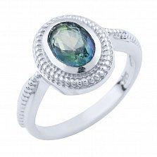 Серебряное кольцо Фиделия с топазом мистик