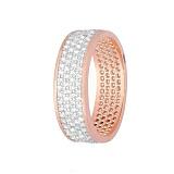 Серебряное кольцо с цирконием Полярная ночь