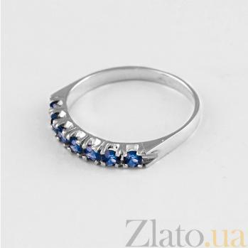 Золотое кольцо в белом цвете с сапфирами Passion 000029439