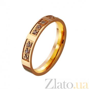 Золотое обручальное кольцо Вечная традиция с фианитами TRF--4121101