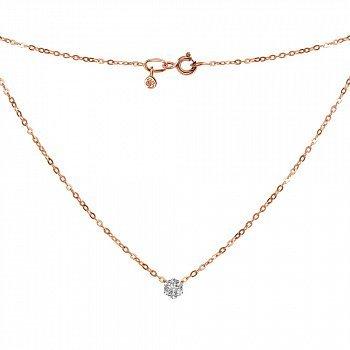 Кольє в комбінованому кольорі золота з діамантами 000123690