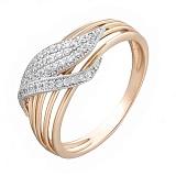 Золотое кольцо с фианитами Лея