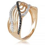 Золотое кольцо с фианитами Шерилл