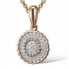 Кулон из красного золота Сусанна с бриллиантами