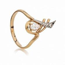 Золотое кольцо с цирконием Аматея