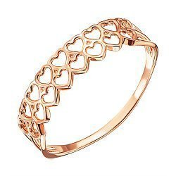 Кольцо из красного золота 000137932