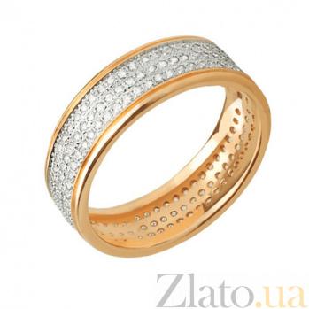 Кольцо из желтого и белого золота Исида с фианитами VLT--ТТ178