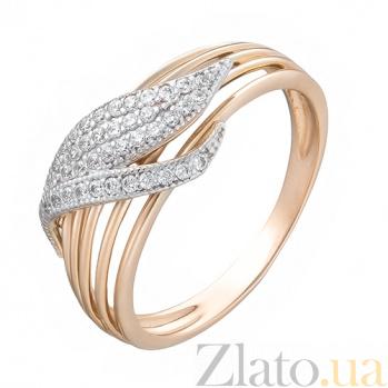 Золотое кольцо с фианитами Лея SUF--140599