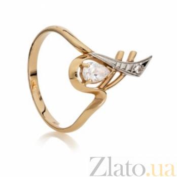 Золотое кольцо с цирконием Аматея 000030609