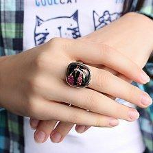 Серебряное кольцо с имитацией опала Эстетика
