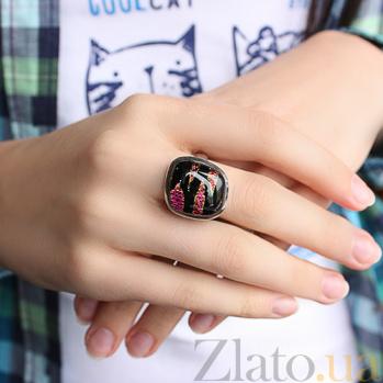 Серебряное кольцо с имитацией опала Эстетика 000007019