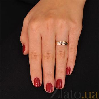 Золотое обручальное кольцо с бриллиантами История чувств 000001619