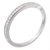 Серебряное кольцо Оливия с фианитами