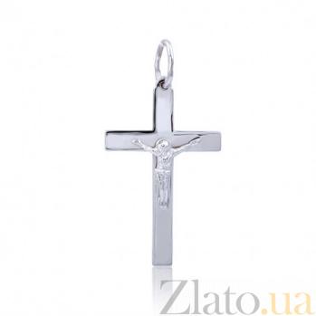 Крест из белого золота Элегантность EDM--КР057Б