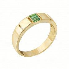 Золотое кольцо Джорджия в желтом цвете с изумрудами