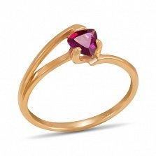 Золотое кольцо Мэган с гранатом