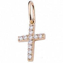 Золотой крест Ролен с цирконием