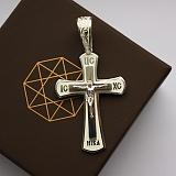 Серебряный крест с белой эмалью Светлые небеса