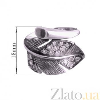 Серебряное кольцо Перо 1015