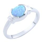 Серебряное кольцо Орнелла с опалом