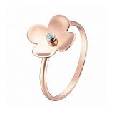 Кольцо в розовом и белом золоте Маттиола с фианитом